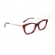 Armação Oculos Atitude AT6203 T02 Vermelho Translucido