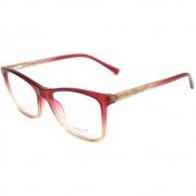 Armação Oculos Atitude AT6227I C03 Vermelho Degradê Translucido