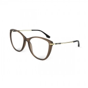 Armação Oculos Colcci Tati C6159j2658 Marrom Fosco