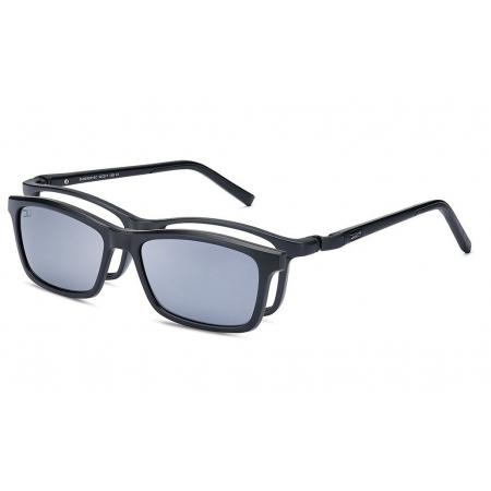 Armação Óculos Dos Uno Land Du225201sc Silicone Preto Fosco Clip On Polarizado