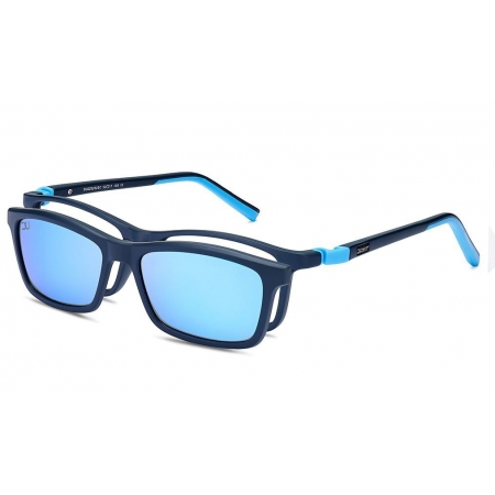 Armação Óculos Dos Uno Land Du225232sc Silicone Azul Fosco Clip On Polarizado
