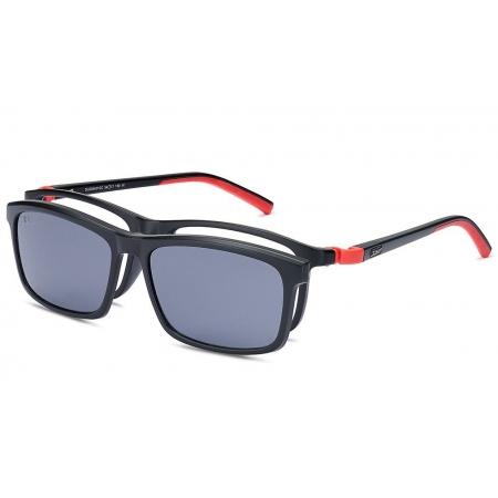 Armação Óculos Dos Uno Track Du205401sc Silicone Preto Fosco Clip On Polarizado