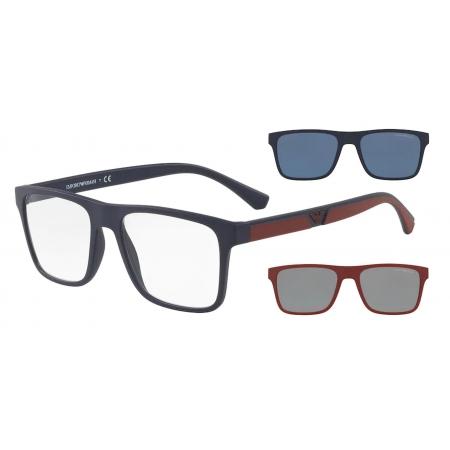 Armação Óculos Empório Armani Clip On ea4115 58541w 54 Azul Fosco