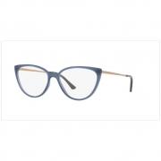 Armação Óculos Grau Grazi Gz3076 H608 55 Azul Brilhoso