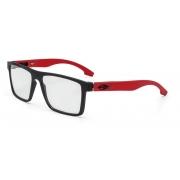 Armação Oculos Grau Mormaii Banks M6046A8555 Preto Fosco Vermelho