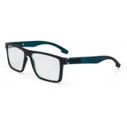 Armação Oculos Grau Mormaii Banks M6046A9255 - PRETO FOSCO  COM HASTES EM VERDE TRANSLUCIDO