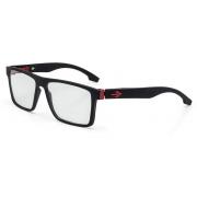 Armação Oculos Grau Mormaii Banks M6046A9555 - PRETO  COM DETALHES EM VERMELHO
