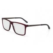 Armação Oculos Grau Mormaii Khapa M6045C3856 VERMELHO ESCURO COM HASTES EM METAL