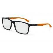 Armação Oculos Grau Mormaii Prana M6044a9655 Preto Fosco Laranja