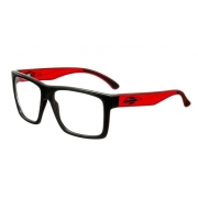 Armação Oculos Grau Mormaii San Diego RX M6037A9055 Preto Vermelho
