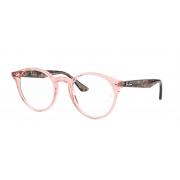 Armação Oculos Grau Ray Ban rb2180v 8081 49 Rosa Translucido