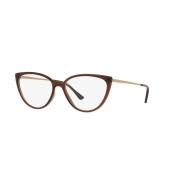 Armação Óculos Grazi Gz3076 H607 Marrom Brilho