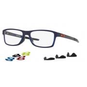 Armação Oculos Oakley Chamfer Mnp OX8089 0454 Azul Brilho