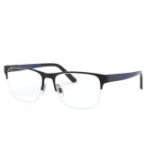 Armação Óculos Polo Ralph Lauren Ph1196 9003 55 Preto Brilho Azul