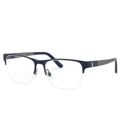 Armação Óculos Polo Ralph Lauren Ph1196 9303 55 Azul Fosco Cinza
