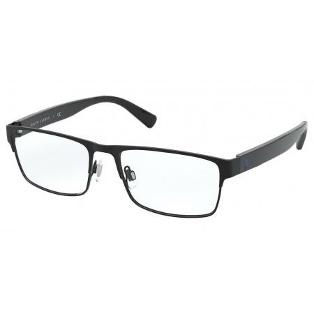 Armação Óculos Polo Ralph Lauren Ph1198 9003 56 Preto Brilho