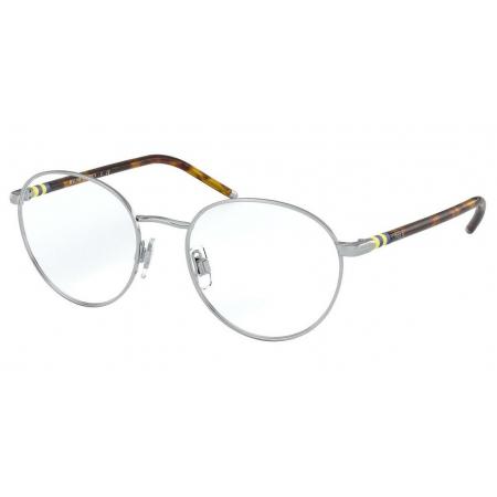 Armação Óculos Polo Ralph Lauren Ph1201 9001 50 Prata Brilho