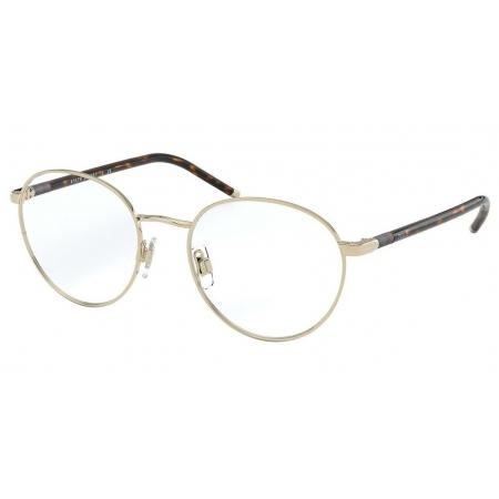 Armação Óculos Polo Ralph Lauren Ph1201 9116 50 Dourado Marrom Havana Brilho