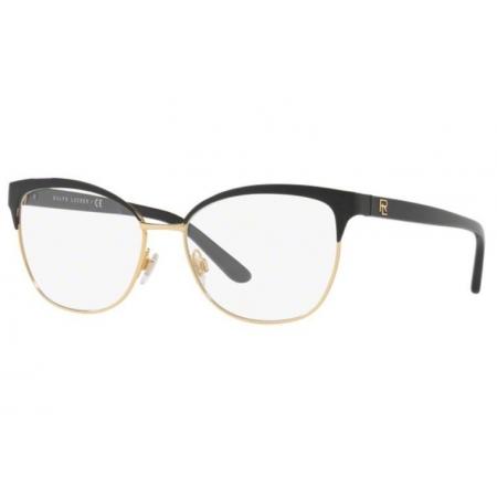 Armação Óculos Ralph Lauren Rl5099 9003 52 Preto Dourado