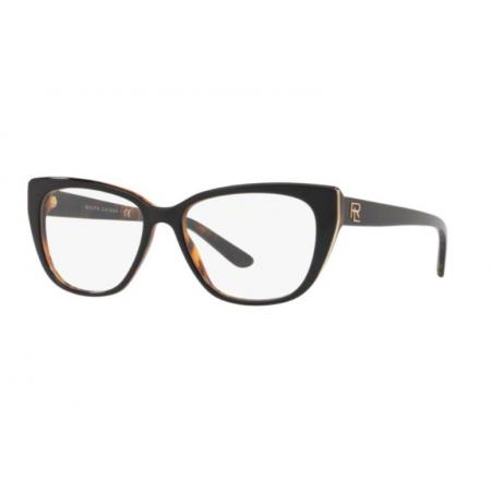 Armação Óculos Ralph Lauren Rl6171 5260 54 Preto Marrom Havana
