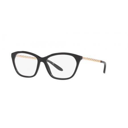 Armação Óculos Ralph Lauren Rl6185 5001 55 Preto Brilho