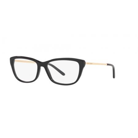 Armação Óculos Ralph Lauren Rl6189 5001 54 Preto Brilho