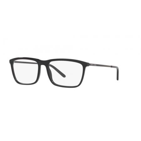 Armação Óculos Ralph Lauren Rl6190 5001 56 Preto Brilho