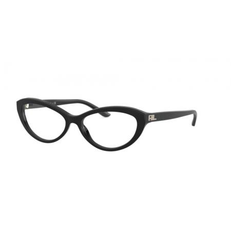 Armação Óculos Ralph Lauren Rl6193 5001 54 Preto Brilho