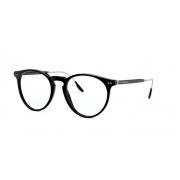 Armação Óculos Ralph Lauren Rl6195p 5001 51 Preto Brilho Prata