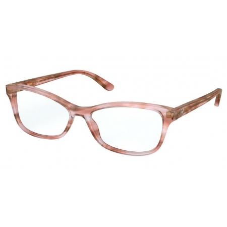 Armação Óculos Ralph Lauren Rl6205 5878 55 Marrom Claro Translucido