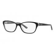 Armação Óculos Ralph Ra7020 541 52 Preto Brilho Transparente