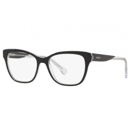 Armação Óculos Ralph Ra7099 5695 51 Preto Brilho Cristal