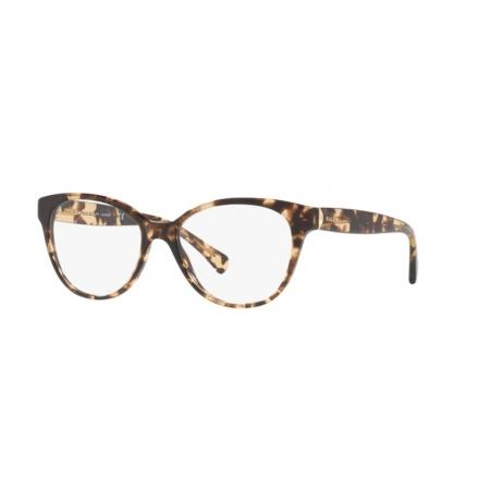 Armação Óculos Ralph Ra7103 1691 52 Marrom Claro Havana