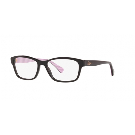 Armação Óculos Ralph Ra7108 5001 52 Preto Brilho
