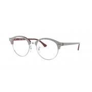 Armação Oculos Ray Ban Clubround RB4246V 8050 49 Cinza Bordo