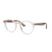 Armação Óculos Ray Ban rb2180v 8080 49 Marrom Claro Transparente