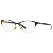 Armação Óculos Versace Ve1218 1342 53 Preto Dourado Brilho