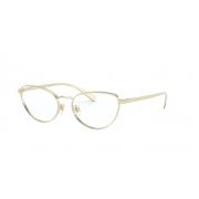 Armação Óculos Versace Ve1266 1252 54 Dourado Claro Brilho