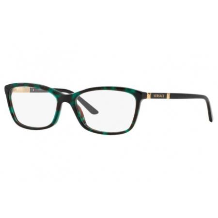 Armação Óculos Versace Ve3186 5076 54 Verde Havana