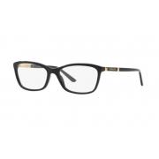 Armação Óculos Versace Ve3186 Gb1 54 Preto Dourado Brilho