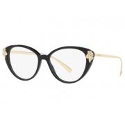Armação Óculos Versace Ve3262b Gb1 54 Preto Brilho Dourado