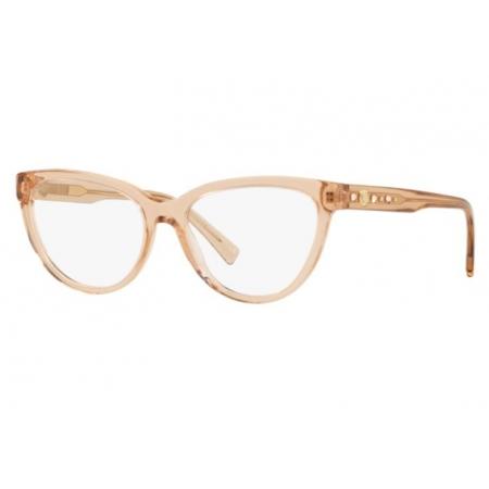 Armação Óculos Versace Ve3264b 5241 53 Marrom Claro Translucido