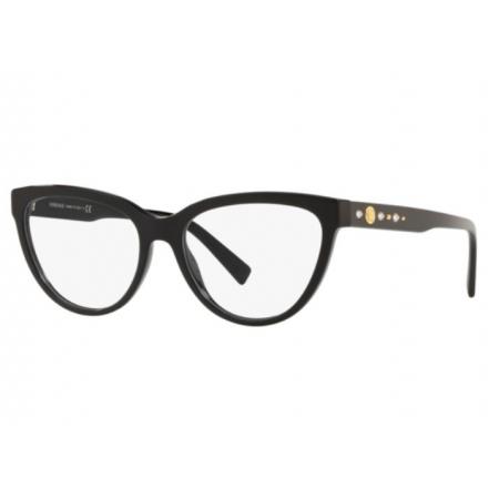 Armação Óculos Versace Ve3264b Gb1 53 Preto Brilho