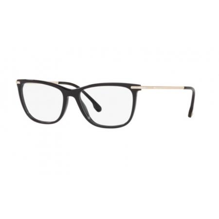 Armação Óculos Versace Ve3274b Gb1 54 Preto Brilho Dourado