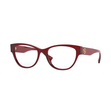 Armação Óculos Versace Ve3287 388 53 Vermelho Translucido