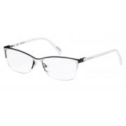 Armação Óculos Victor Hugo Vh1251s 0583 54 Preto Prata Branco Brilho