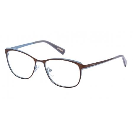 Armação Óculos Victor Hugo Vh1255 08tg 54 Marrom Azul Fosco