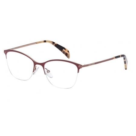 Armação Óculos Victor Hugo Vh1256 0k99 51 Bordo Dourado Brilho