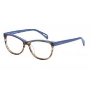Armação Óculos Victor Hugo Vh1734 0ggu 52 Marrom Azul Brilho