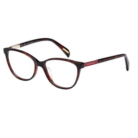 Armação Óculos Victor Hugo Vh1758 09at 53 Marrom Tartaruga Brilho